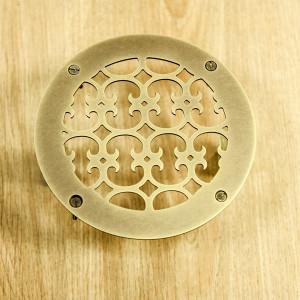 Вентиляционная решетка из состаренной латуни