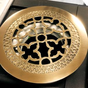 Круглое изделие из полированной латуни с узором Majestic