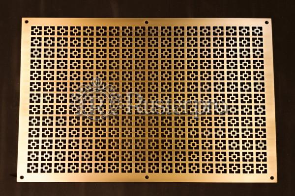 Панель для батареи из шлифованной латуни
