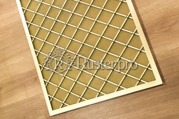 Декоративная решетка для радиатора отопления из шлифованной латуни