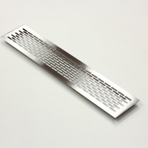 Эксклюзивная решетка из шлифованной нержавейки с узором