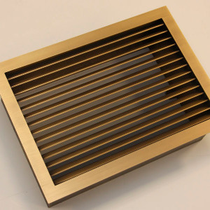 Решетка из состаренной латуни с шлифовкой