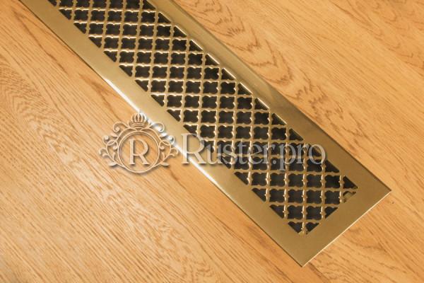 Полированная латунная решетка с узором Классик