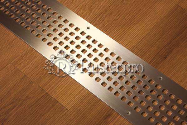 Плоская решетка из алюминия в пол
