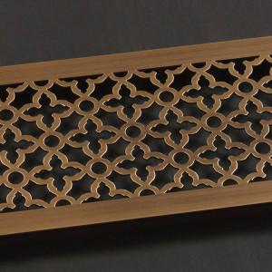Решетка из латуни со старением с орнаментом Majestic