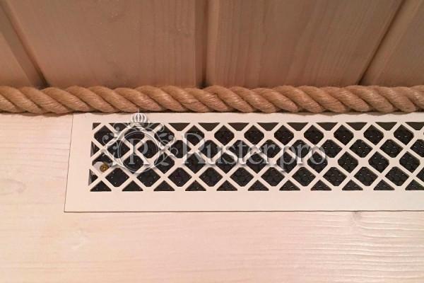 Решетка из окрашенной стали со скрытым крепежом