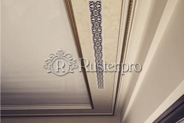 Вентиляционная решетка в потолок с узором Листья дуба