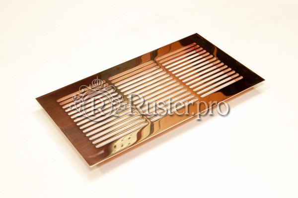 Вентиляционная решетка из натуральной меди с зеркальной полировкой