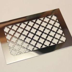 Плоская решетка из нержавейки с орнаментом Классик