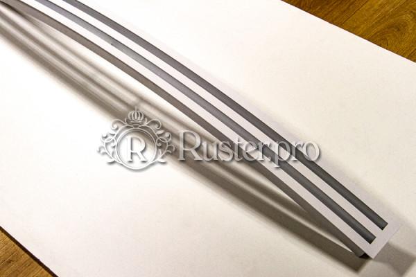 Вентиляционная радиусная двухщелевая решетка