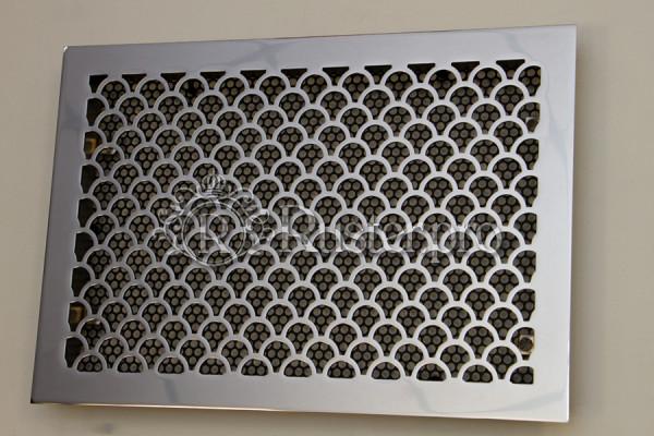 Вентиляционная решетка из нержавейки с полировкой