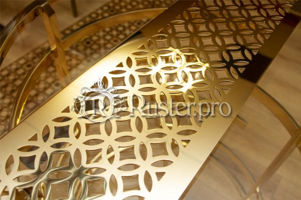 Декоративная решетка из полированной латуни в интернет-магазине
