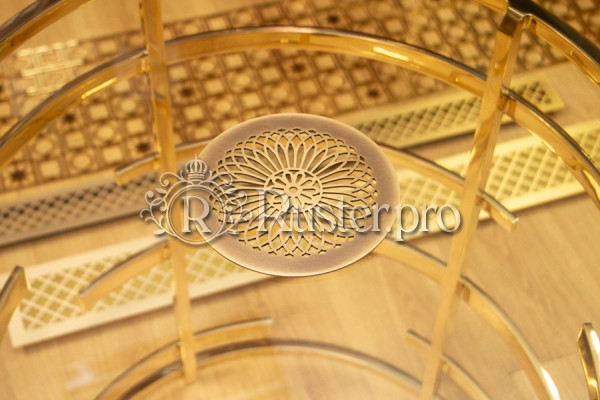 Круглая декоративная решетка для вентиляции с гравировкой