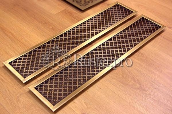 Решетка из латуни для деревянного подоконника