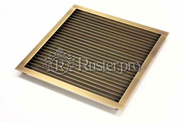 Вентиляционная латунная решетка с прямыми жалюзи
