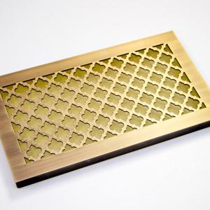 Вентиляционное изделие из латуни с узором Классик