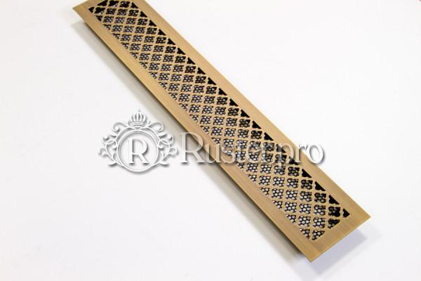 Решетка из латуни с узором Классик из старенной латуни