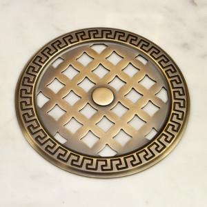 Круглая вентиляционная деталь со старением под бронзу
