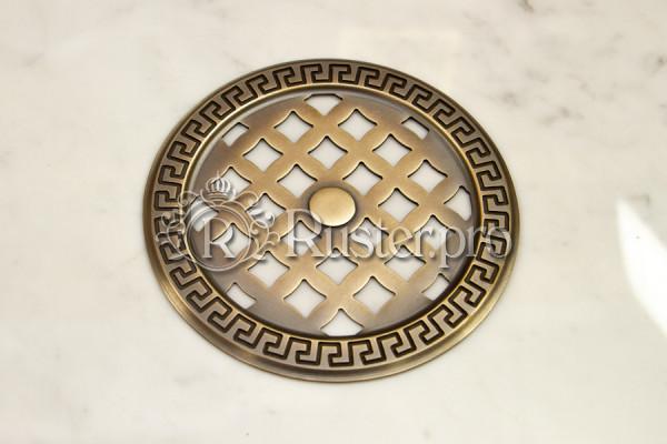 Круглая вентиляционная решетка со старением под бронзу