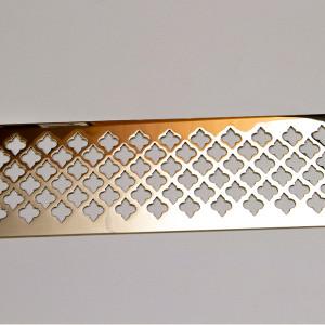 Полированная латунная панель с перфорацией Классик
