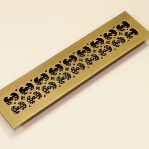 Вентиляционная решетка из латуни с орнаментом Rise