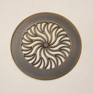 Вентиляционная решетка для санузла с узором Солнце