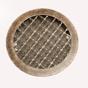 Решетка под античное серебро в круглом исполнении