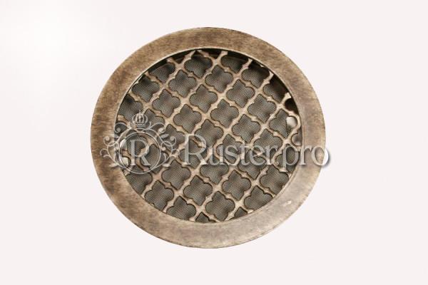 Вентиляционная решетка из стали с декором под античное серебро