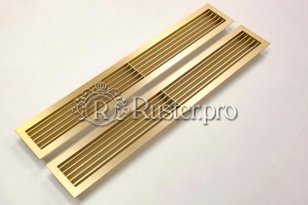 Жалюзийная вентиляционная решетка из шлифованной латуни