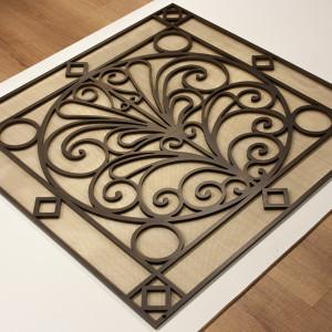 Решетка из латуни толщиной 10 мм с подложкой из сеточки