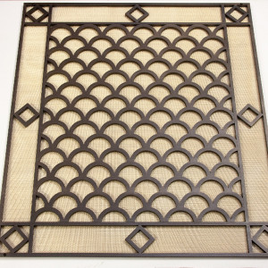 Решетка для батареи из латуни толщиной 10 мм и с латунной сеткой