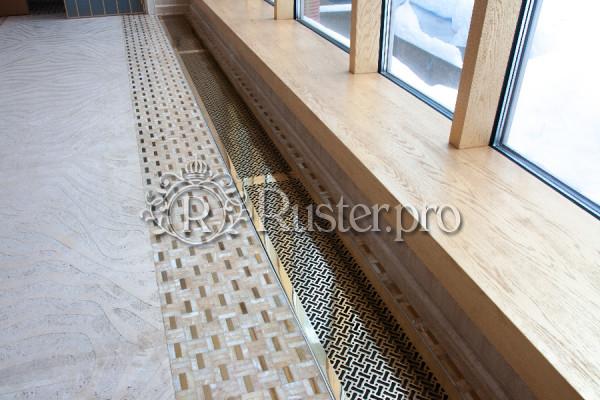 Решетка из полированной латуни в пол с узором
