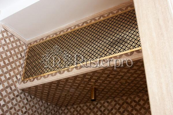 Вентиляционная латунная решетка с узором Кольца