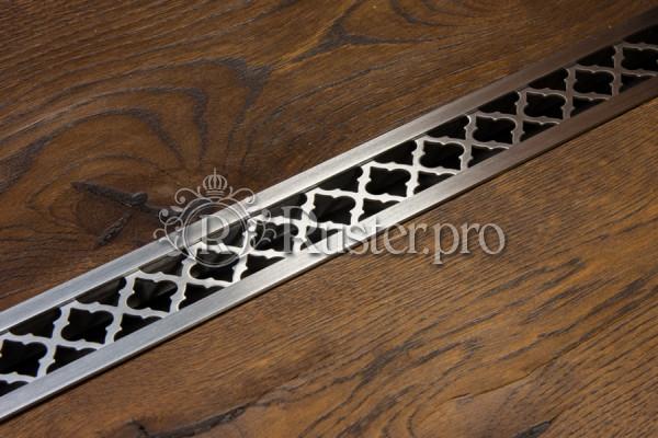 Решетка из нержавейки с узором Классик в подоконник