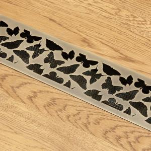 Состаренная латунь с орнаментом Бабочки