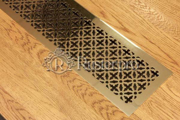 Решетка из полированной латуни с узором Majestic в подоконник