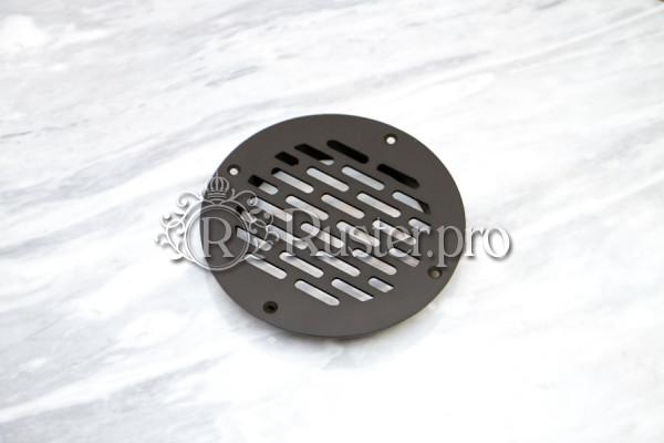 Круглая черная решетка из стали с покраской