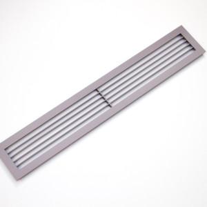 Жалюзи из стали с покраской серого цвета