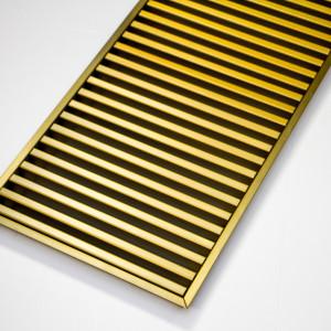 Напольная ламельная решетка из латуни