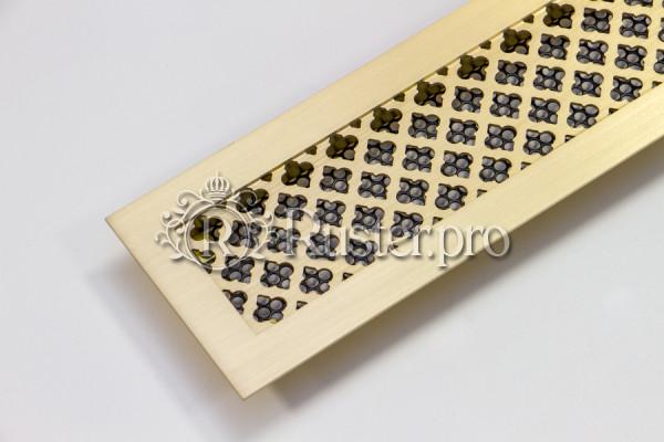 Решетка для подоконника из шлифованной латуни с узором Классик