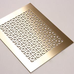 Плоская панель из латуни с узором Соединенные квадраты