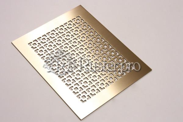Плоская вентиляционная решетка из латуни с узором Соединенные квадраты