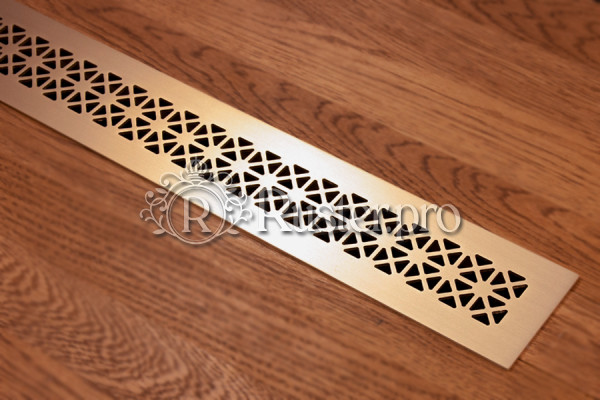 Латунная решетка с орнаментом Треугольники